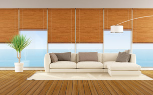 Living room of a beach houseの素材 [FYI00648108]