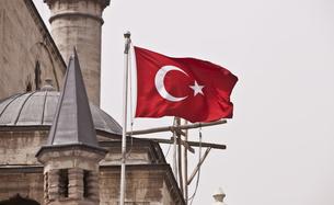 Turkish Flagの写真素材 [FYI00648445]