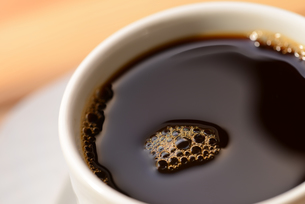 black coffee in a cup close-upの写真素材 [FYI00648510]