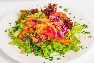 Chicken salad top viewの写真素材 [FYI00648660]
