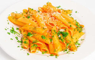 Pasta penne with tomato sauceの写真素材 [FYI00648662]