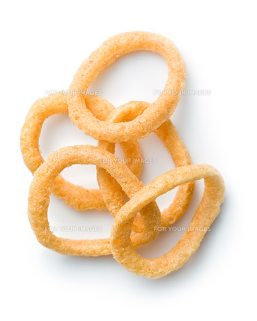 snack flavored with onion ringsの写真素材 [FYI00648768]