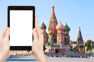 tourist photographs of Red Square in Moscow Russiaの写真素材 [FYI00648950]