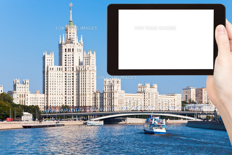 tourist photographs of Moscow cityscape in summerの素材 [FYI00648952]