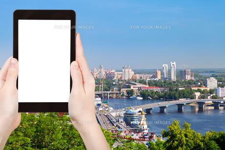 tourist photographs of Kiev cityscapeの素材 [FYI00648956]