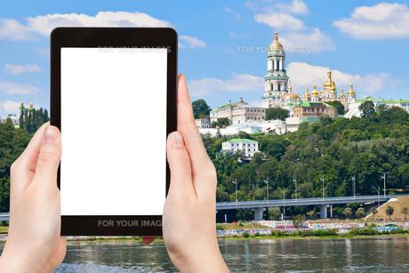 tourist photographs of Kiev Pechersk Lavraの素材 [FYI00648957]