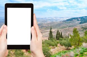 photo of Holy Land from Mount Nebo in Jordanの素材 [FYI00648975]