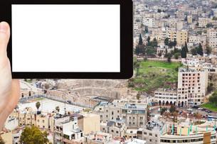 tourist photographs of Amman city, Jordanの写真素材 [FYI00648985]
