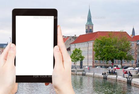 tourist photographs of Frederiksholms Kanalの素材 [FYI00648990]