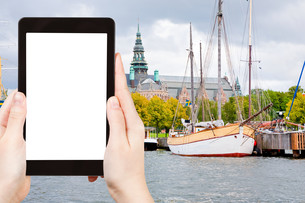 tourist photographs of Stockholm museum, Swedenの写真素材 [FYI00649001]