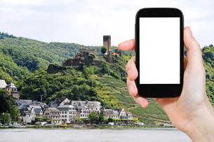 tourist photographs of Beilstein village, Germanyの写真素材 [FYI00649036]