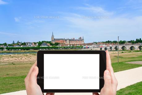 tourist photographs of Gien city, Franceの素材 [FYI00649075]