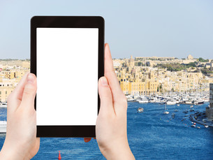 tourist photographs of Valletta city , Maltaの素材 [FYI00649129]