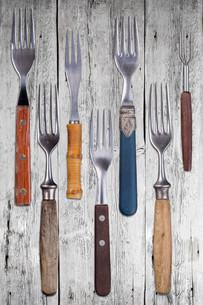 Set of dinner forksの素材 [FYI00649645]