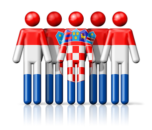 Flag of Croatia on stick figureの写真素材 [FYI00650067]
