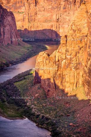 colorado viver flowing through grand canyonの写真素材 [FYI00650299]