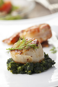 grilled scallops with shrimpの写真素材 [FYI00650330]