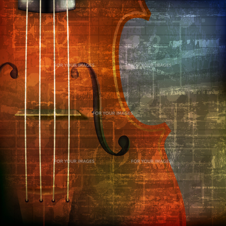 abstract grunge background with violinの写真素材 [FYI00650341]