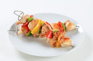 Chicken skewersの写真素材 [FYI00650736]