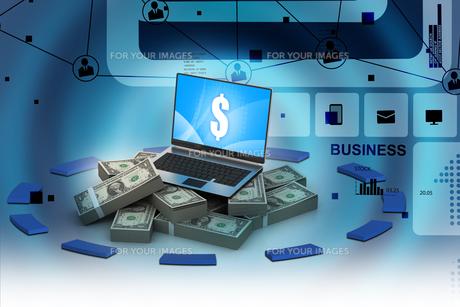 Online money conceptの写真素材 [FYI00650810]