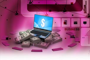 Online money conceptの写真素材 [FYI00650813]