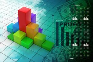 Business graphの写真素材 [FYI00650815]