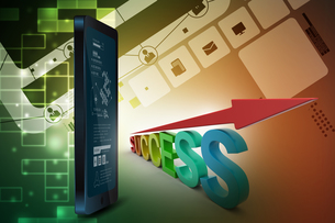 Business success graphの写真素材 [FYI00650872]