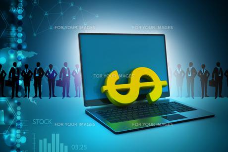 Online money making conceptの写真素材 [FYI00650896]