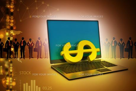 Online money making conceptの写真素材 [FYI00650899]