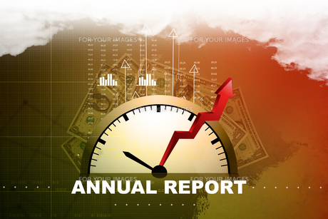 Financial annual report conceptの素材 [FYI00650931]