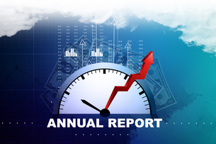 Financial annual report conceptの素材 [FYI00650935]
