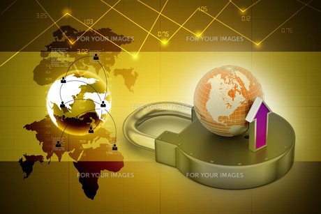 Internet security conceptの写真素材 [FYI00650936]