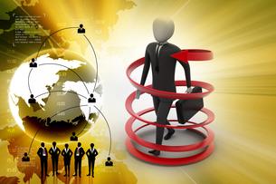 3d man business success conceptの写真素材 [FYI00650964]
