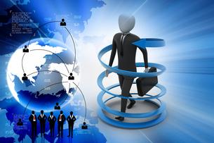 3d man business success conceptの写真素材 [FYI00650966]