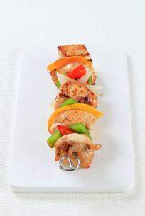 Chicken Shish kebabの写真素材 [FYI00650979]