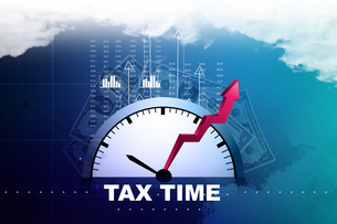 Tax time conceptの写真素材 [FYI00650993]