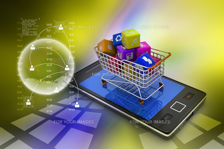 Internet and Online Shopping Conceptの写真素材 [FYI00651032]