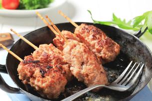 Minced meat kebabsの写真素材 [FYI00651044]