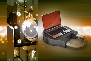 Internet security conceptの写真素材 [FYI00651125]