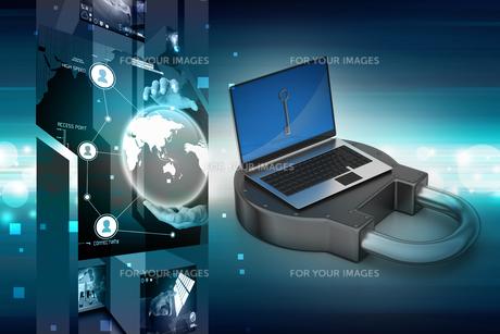 Internet security conceptの写真素材 [FYI00651145]