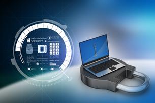 Internet security conceptの写真素材 [FYI00651156]