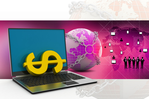 Online money making conceptの写真素材 [FYI00651276]