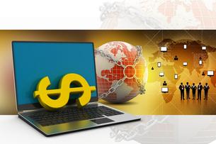 Online money making conceptの写真素材 [FYI00651277]