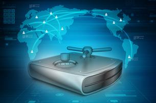 Secure Hard driveの写真素材 [FYI00651289]