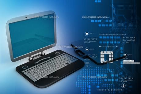 computer bag with laptopの素材 [FYI00651290]