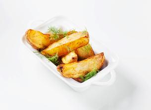 Potato wedgesの写真素材 [FYI00651361]