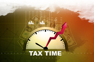 Tax time conceptの素材 [FYI00651430]