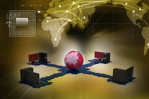 Global computer networkingの写真素材 [FYI00651434]