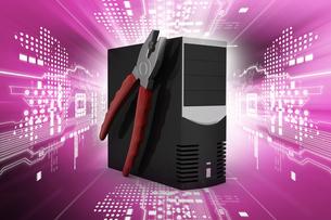 computer repair service conceptの写真素材 [FYI00651474]