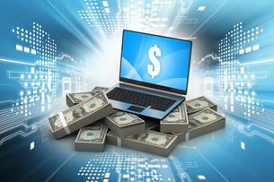 Online money conceptの写真素材 [FYI00651482]